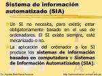 sistema de informaci n automatizado sia