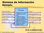 sistema de informaci n ejemplo