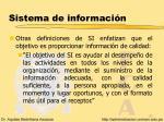 sistema de informaci n