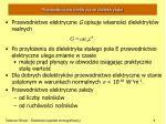 przewodnictwo elektryczne dielektryk w