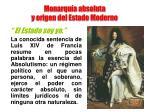 monarqu a absoluta y origen del estado moderno