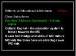 differential educational achievement 1 class9
