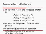 power after reflectance