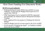 how does funding for education work