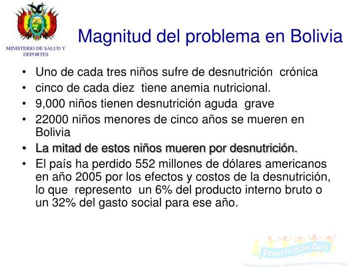 Magnitud del problema en bolivia