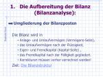 die aufbereitung der bilanz bilanzanalyse