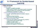 9 1 framework for symbol based learning1