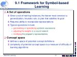 9 1 framework for symbol based learning4