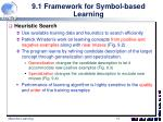 9 1 framework for symbol based learning5