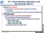 9 2 1 generalization operators and the concept spaces1