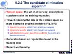 9 2 2 the candidate elimination algorithm