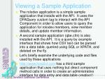 viewing a sample application