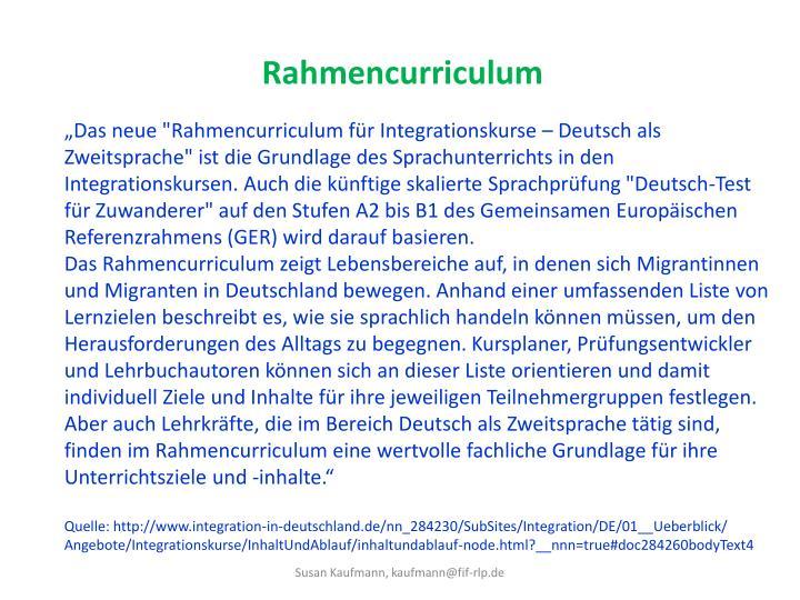 Rahmencurriculum