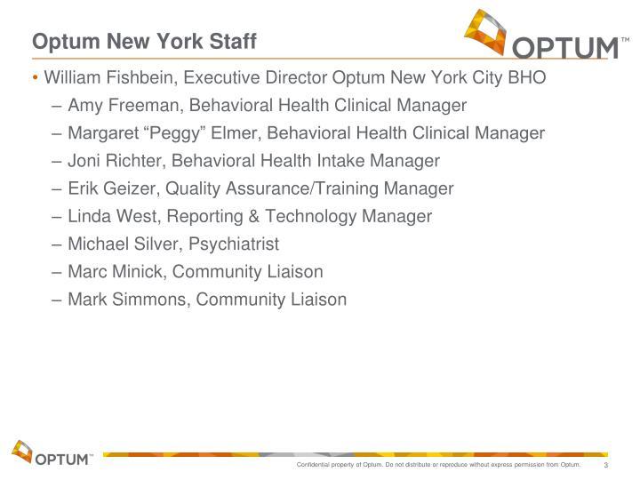 Optum new york staff