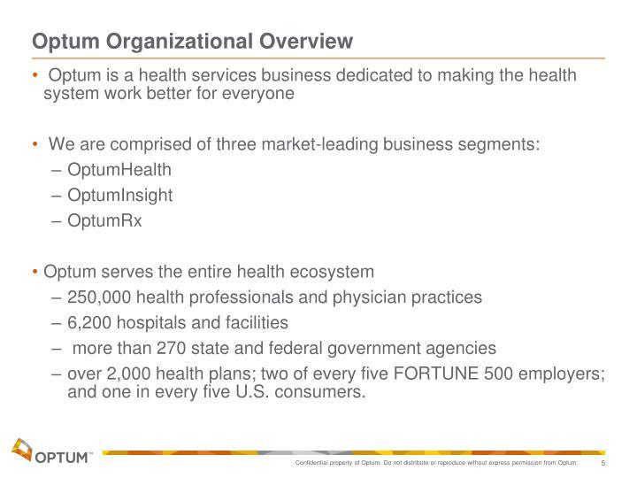 Optum Organizational Overview