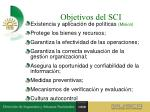 objetivos del sci1