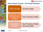 other federal program full scope campuses
