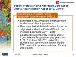 patient protection and affordable care act of 2010 reconciliation act of 2010 cont d2