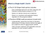what is a single audit cont d