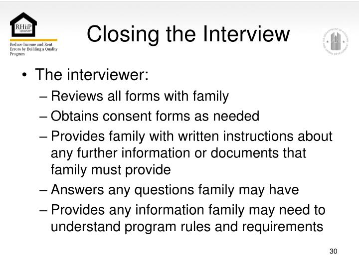 Closing the Interview