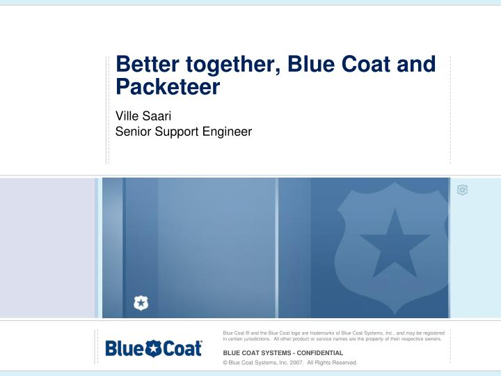 Better together blue coat and packeteer