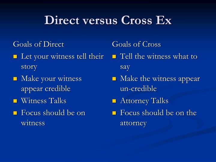 Goals of Direct
