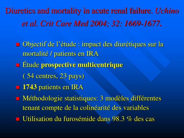 Diuretics and mortality in acute renal failure.