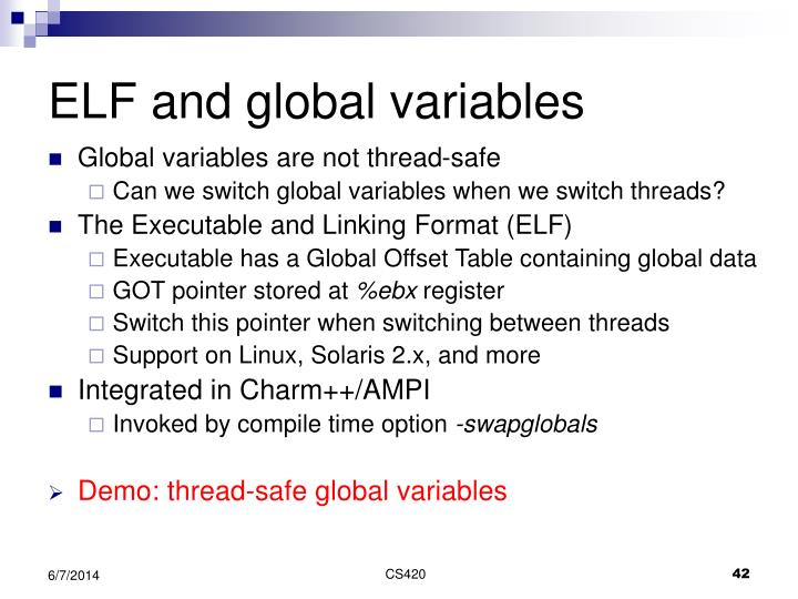 ELF and global variables