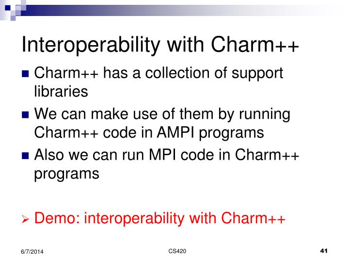 Interoperability with Charm++