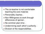 negative aspects co teaching