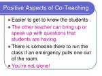 positive aspects of co teaching1