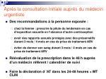 apr s la consultation initiale aupr s du m decin urgentiste
