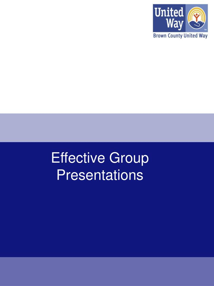 effective group presentations n.