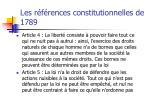 les r f rences constitutionnelles de 1789