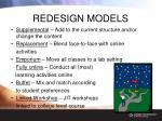 redesign models