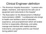 clinical engineer definition1