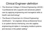 clinical engineer definition2