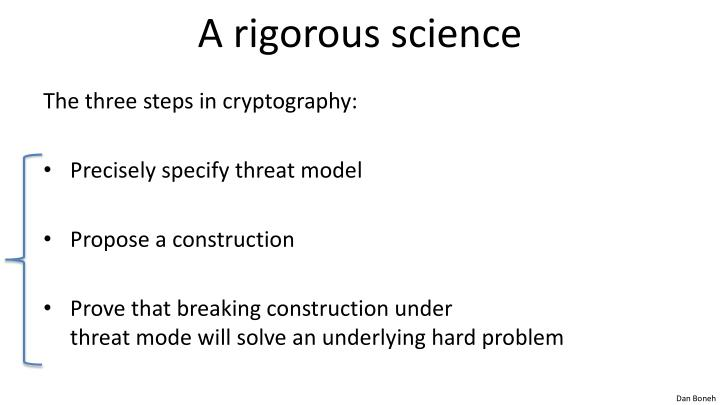 A rigorous science