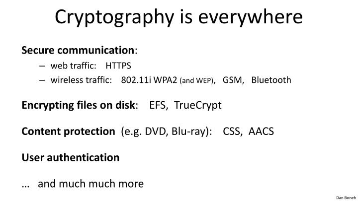 Cryptography is everywhere