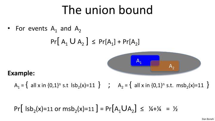The union bound