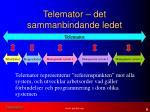 telemator det sammanbindande ledet