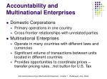 accountability and multinational enterprises1