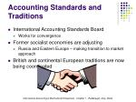 accounting standards and traditions