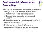 environmental influences on accounting1