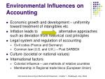 environmental influences on accounting2