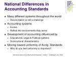 national differences in accounting standards