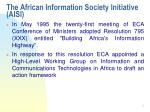 the african information society initiative aisi
