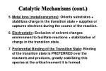 catalytic mechanisms cont