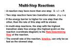 multi step reactions