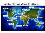 ambiente dos mercados globais